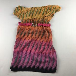 Petticoat Alley Strapless Silk Dress